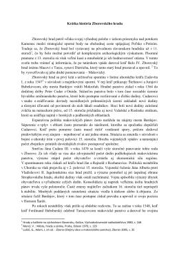 Krátka história Zborovského hradu