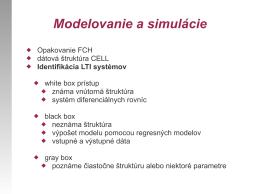Identifikácia LTI systémov