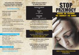 stop przemocy szaflary ulotka