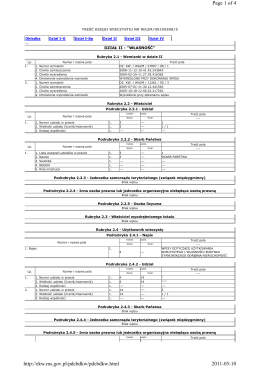 Page 1 of 4 2011-05-10 http://ekw.ms.gov.pl/pdcbdkw/pdcbdkw.html