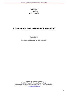 Materiały do pobrania - Zakład Geografii Fizycznej Uniwersytetu