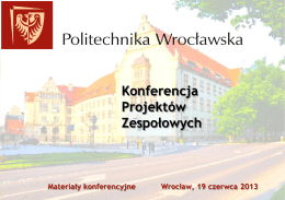 KPZ`2013 - Konferencja Projektów Zespołowych