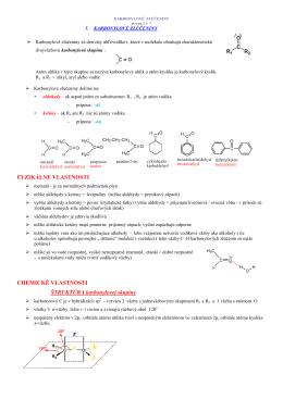 3.5 karbonylové zlúčeniny