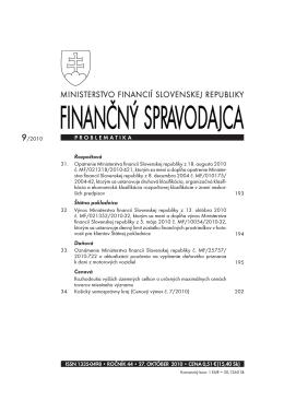 Finančný spravodajca 9/2010