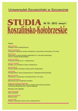 Teologia a obraz współczesności - Studia Koszalińsko
