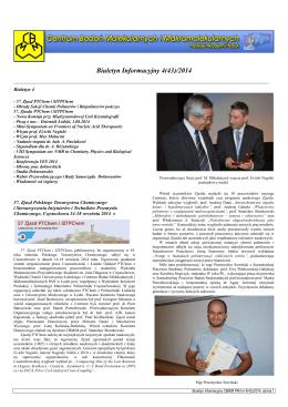 biuletyn 4(43)_2014.pdf.1.5MB - Centrum Badań Molekularnych i