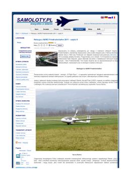 Relacja z AERO Friedrichshafen 2011 - część II