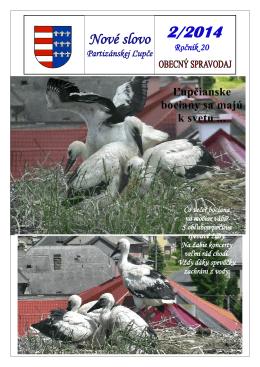 Vyšli nové Obecné noviny 2/2014