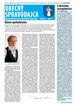 Obecný spravodajca 1/2012