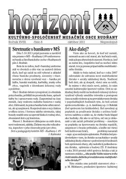 Horizont číslo 8/2011 (.pdf)