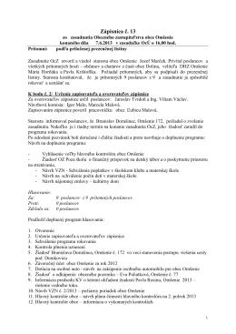 Zápisnica č. 13