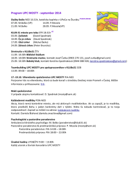 Program UPC MOSTY - september 2014