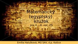 Matematický (egyptský) krúžok