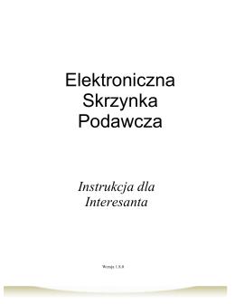 Instrukcja dla obywatela - ESP