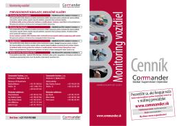 Cenník - Commander.sk