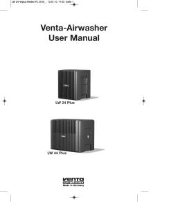 Instrukcja obsługi LW24Plus, LW44Plus - Venta