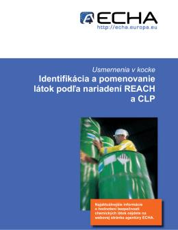 Identifikácia a pomenovanie látok podľa nariadení - ECHA