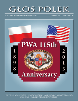 Spring 2013 - the Polish Women`s Alliance of America