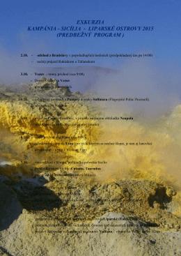 program na stiahnutie (PDF) - Geologický klub Bratislava