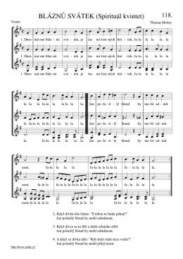 BLÁZNŮ SVÁTEK (Spirituál kvintet)