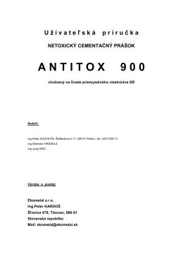 Netoxický cementačný prášok ANTITOX900