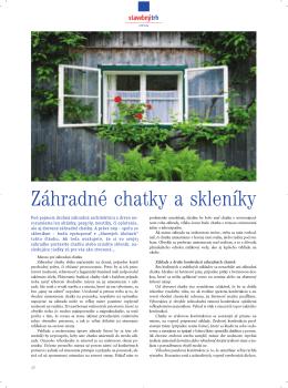 Záhradné chatky a skleníky