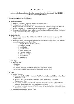 uznesenie zastupiteľstva 7 2014