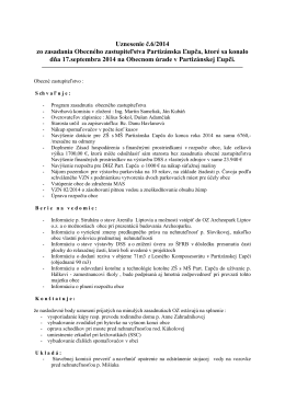 Uznesenie Obecného zastupiteľstva 6/2014