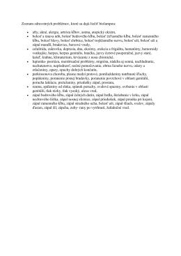 Zoznam zdravotných problémov, ktoré sa dajú liečiť