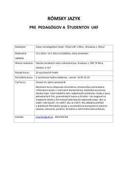 Základné informácie (.PDF) - Ústav romologických štúdií