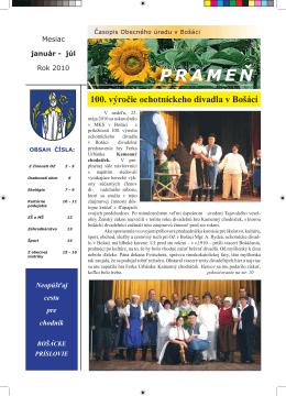 Časopis Prameň január - júl 2010.pdf / 2.14 Mb