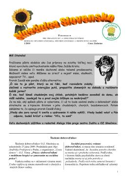 Milí čitatelia - Slnečnica Slovensko