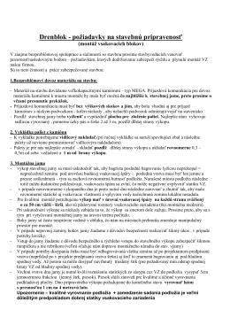Drenblok-Stavebná pripravenosť odporúčania