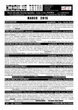 marec 2015 - Kinoklub Nitra