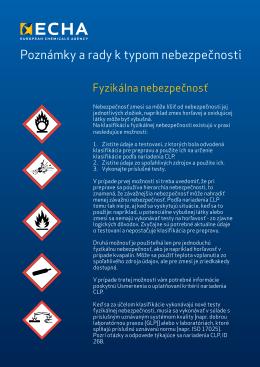 Poznámky a rady k typom nebezpečnosti