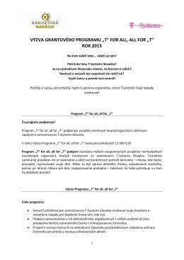 Výzve - Karpatská nadácia