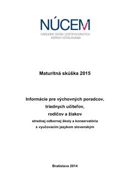 Maturita 2015