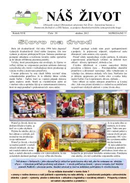 Náš život č.30-október 2012 - Domov dôchodcov a domov