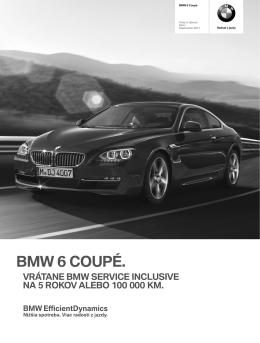 Stiahnite si. Aktuálny cenník pre BMW M6 (PDF, 641k)
