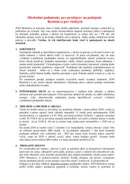 Obchodné podmienky pre predajcov na podujatie