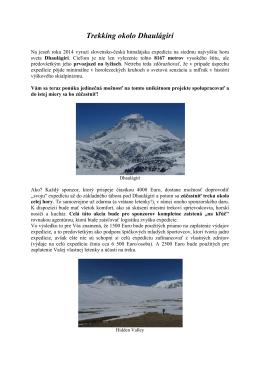 Trekking okolo Dhaulágirí