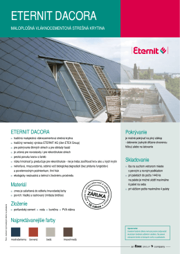 ETERNIT DACORA - Medop strechy