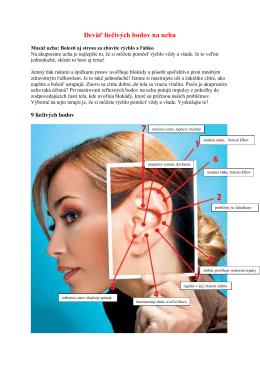Deväť liečivých bodov na uchu