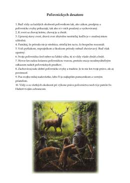Poľovníckych desatoro