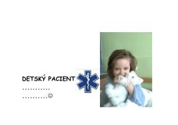 detský pacient ........... ..........j