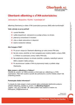 Oberbank eBanking s xTAN