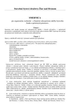 Smernica 18 - SBD Žiar nad Hronom