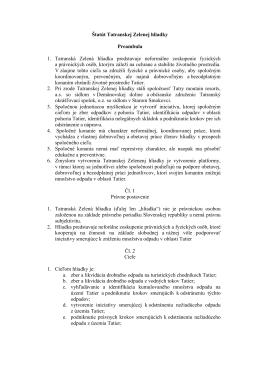 Štatút Tatranskej Zelenej hliadky Preambula 1