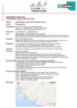 propozície - 123athlon