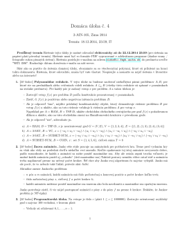Domáca úloha č. 4